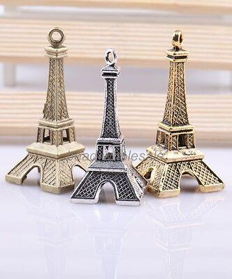 3pcs Hot sale Retro Style Eiffel Tower Charm Pendant For Necklace 3cm Height