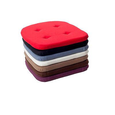 Stuhlkissen Sitzkissen Kissen mit Kordelband, hinten abgerundet, in 7 Farben
