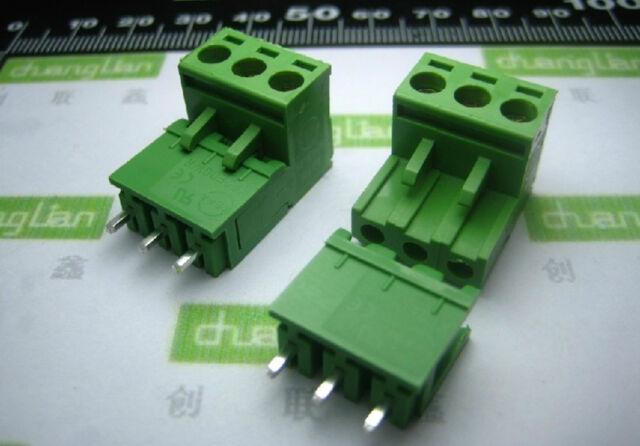 10pcs Block Terminal Wire Connectors 2EDG 5.08-3P