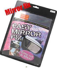 Universal broken car wing mirror repair kit stick on glass for Mirror repair kit