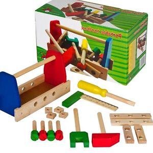 kinder spielzeug holz werkzeug hammer schraubenzieher mit. Black Bedroom Furniture Sets. Home Design Ideas