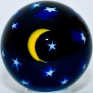 1-1-4-034-Glass-Marble-David-Salazar-Moon-amp-Stars