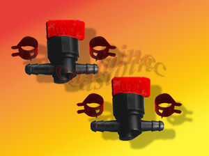 2-Tractor-Lawn-Mower-Gas-or-Fuel-Cut-or-Shut-Off-Valves-1-4-034-Inline