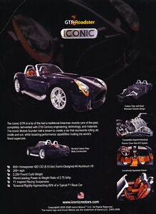2008-GTR-Iconic-Roadster-Cobra-Classic-Vintage-Advertisement-Ad-PE99