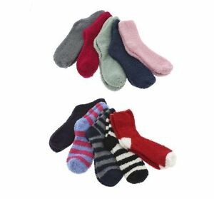 10-Pairs-Fuzzy-Socks-Assorted-Colors-Fits-Women-s-Shoe-Size-4-10-Soft-Cozy