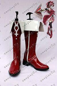 Puella-Magi-Madoka-Magica-Sakura-Kyoko-Cosplay-Shoes-Custom-Red-Boots-B998