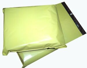1000x-Yellow-Plastic-Mailing-Bags-6x8-034-161x210mm-Post-Mail-Packing-Sacks