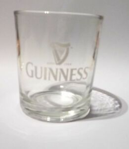 GUINNESS-STOUT-Beer-Short-GLASS-MALAYSIA-White-Logo-Clear-3-25-Tall