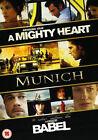 Babel/Munich/A Mighty Heart (DVD, 2008, 3-Disc Set, Box Set)