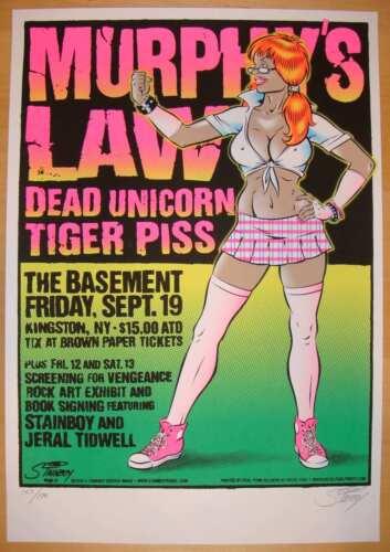 2008 Murphy's Law - Silkscreen Concert Poster Stainboy