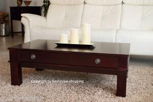 Wohnzimmertisch Tisch Rotbraun Couchtisch Kolonial Style Mit Schublade