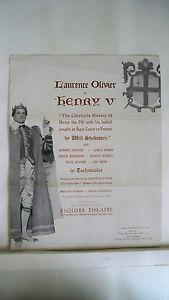 HENRY-V-Advertising-Brochure-LAURENCE-OLIVIER-Esquire-Theatre-BOSTON-1944