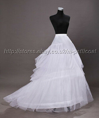 white or black Train Tail Wedding Crinoline Petticoat Under skirt free shipping