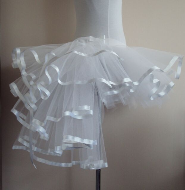 Burlesque Moulin Rouge Tutu Skirt 6 8 10 12 Sexy Bridal White Bustle show girl