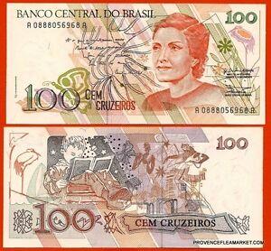 BRESIL-billet-neuf-100-CRUZEIROS-Pick228-C-MEIRELES-DANSE-ENFANT-1990