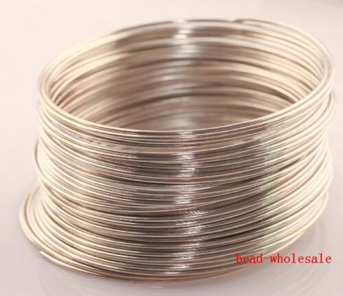 100//500 Loops Silver//Gold Plated Memory Steel Wire Cuff Bangle Bracelet 55//60mm