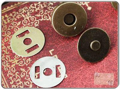 30Sets 1.4cm k2 Magnetic Snaps bag purse Magnetic Snaps button supplies