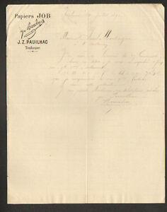 TOULOUSE-31-PAPIERS-a-CIGARETES-JOB-034-P-BARDOU-amp-J-Z-PAUILHAC-034-en-1890