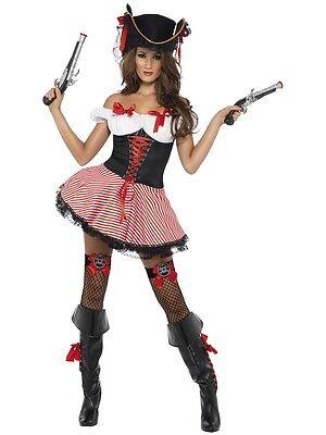 Sexy Halloween Adult Black Pirate Buccaneer Costume