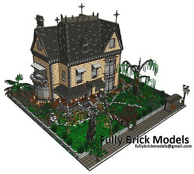 Victorian Town Custom House Modular Instructions Corner City People Friends Art