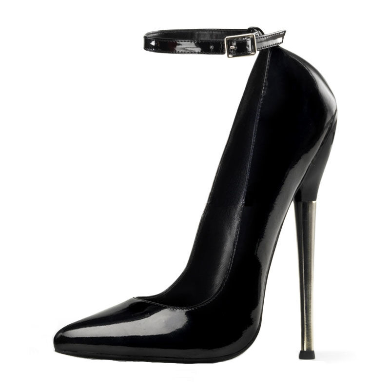 PLEASER DEVIOUS Dagger 01 03 12 Plain Sexy Solid Brass Heel Plain 12 Pump 4fbfc6