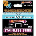 "Aerobie Arrow Fasteners Arrow T50 Type 3/8"" Stainless Steel Staples (AF506SS1)"