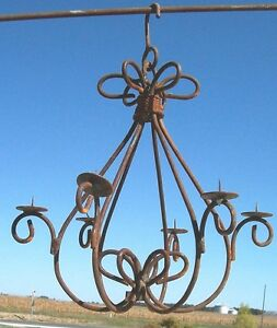 Wrought iron california candle chandelier candelabra ebay - Classic wrought iron chandeliers adding more elegance in the room ...