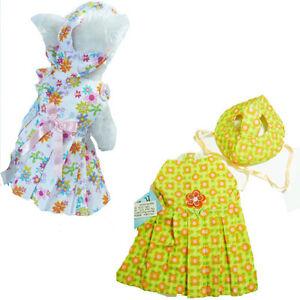 LOT-3E-M-Medium-Fancy-Dog-Puppy-Dress-Dresses-w-matching-hats-NEW