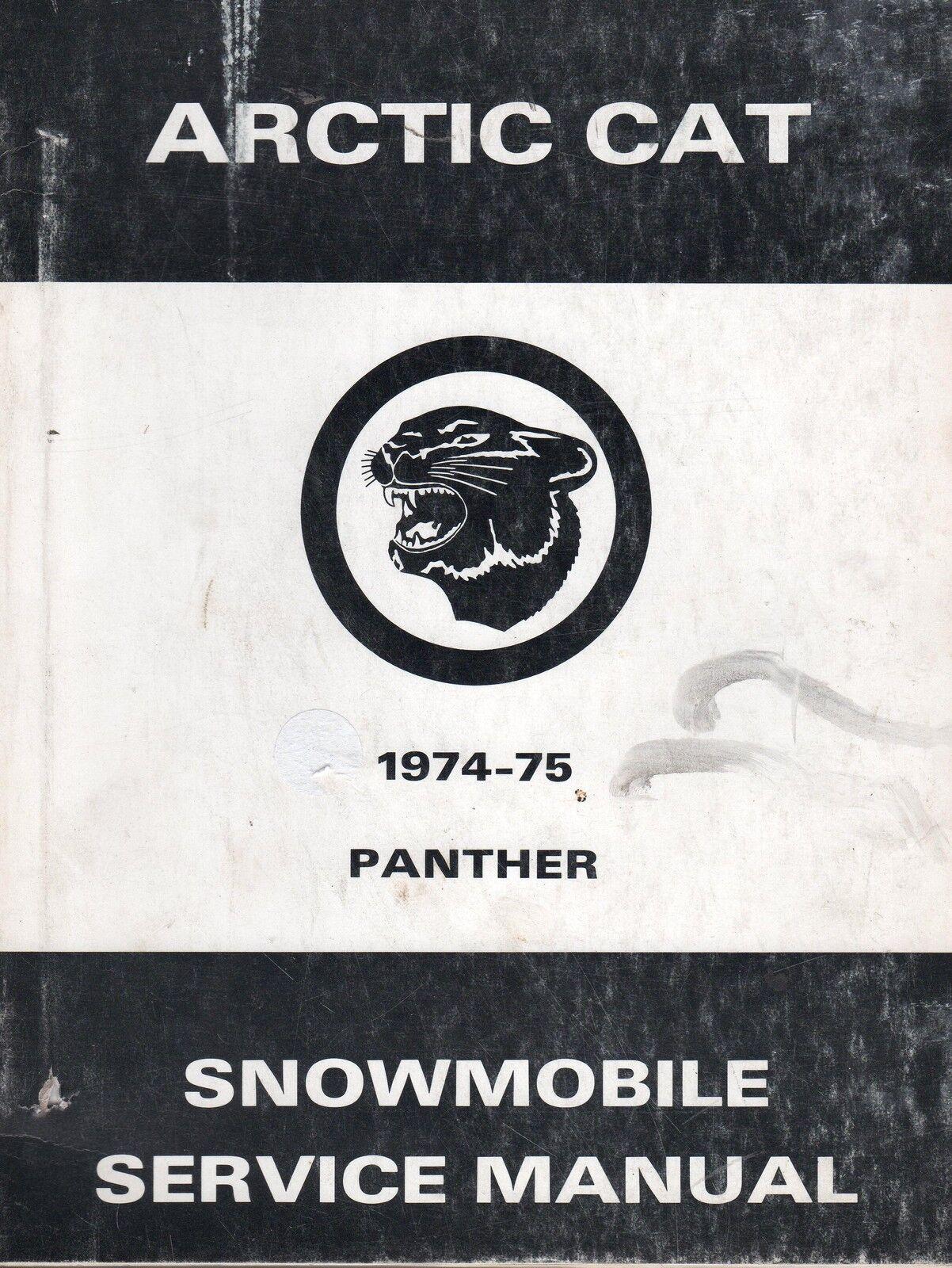 HUGE 1974-75 ARCTIC CAT PANTHER SERVICE PARTS MANUAL & PARTS SERVICE MANUALS 40610e