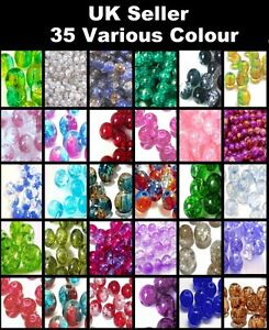 200-x-4mm-100-x-6mm-50-x-8mm-Crackle-Glass-Beads-38-Various-Colours