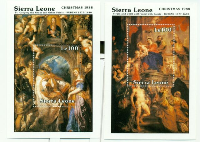 NATALE - CHRISTMAS SIERRA LEONE 1988 Rubens blocks