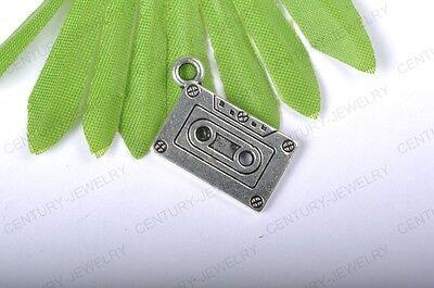 NP50 lots 10pcs Tibetan Silver Recorder Tape Charms Pendants 23MM