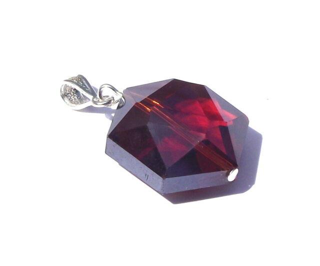Shaman Amber Hexagon Andara Crystal Pendant with COA