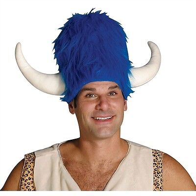 FUNNY BLUE FRED FLINTSTONE BUFFALO LODGE ADULT HAT FLINTSTONES COSTUME HAT 7074