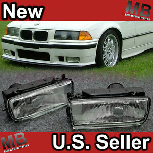 92-98-BMW-E36-3-Series-Head-Bumper-Side-Fog-Light-Bracket-Clear-WT-Replacement