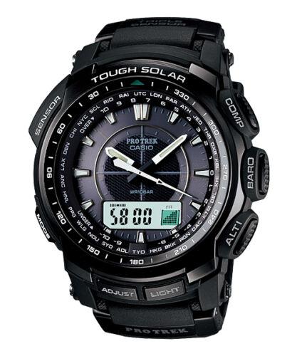 New Casio PROTREK Triple Sensor Tough Solar Alarms Men's Watch PRG510 PRG-510-1A