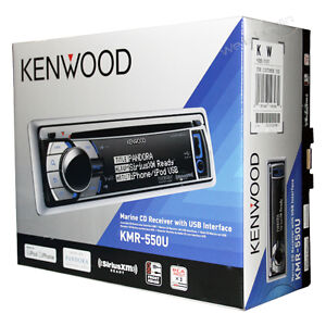 Kenwood-KMR-550U-Marine-Audio-CD-Player-USB-AUX-Stereo-Receiver-KMR550U-New-2012