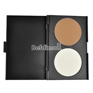 Women-Makeup-Cosmetic-Contour-Shading-Concealer-Powder-Palette-2-colors-BE0D