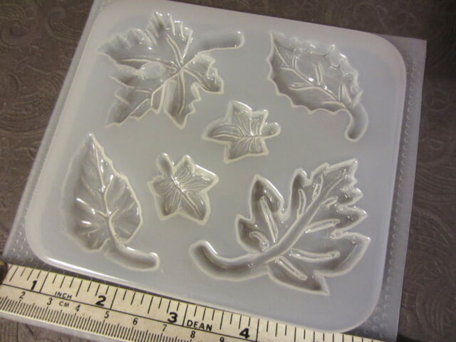 Resin Mold Leaves Leaf Pendant Earring Jewelry Chocolate Fondant
