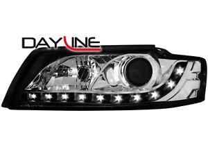 Audi-A4-B6-C5-DRL-LED-Headlights-Dayline-black