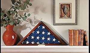 Veteran-039-s-Memorial-Flag-Display-Case-with-Free-Personalized-Plaque-NEW