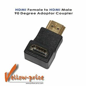 Gold-HDMI-Right-Angle-Port-Saver-Adapter-Male-to-Female-90-Degree