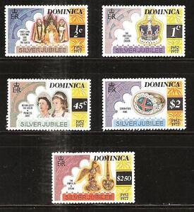 DOMINICA # 521-525 MNH QUEEN ELIZABETH II SILVER JUBILEE