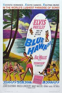 Vintage-Classic-Movie-Poster-BLUE-HAWAII-w-Elvis