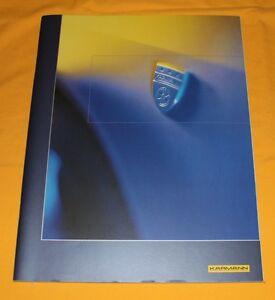 Karmann-Unternehmens-Prospekt-1999-Image-Brochure-Company-Catalogue-VW
