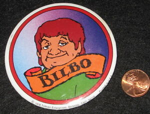 BILBO BAGGINS the Hobbit '78 vtg movie BUTTON Lord of the Rings Bakshi animated