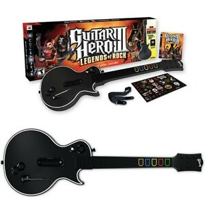 ps3 guitar hero 3 bundle with 2 wireless les paul guitars. Black Bedroom Furniture Sets. Home Design Ideas
