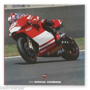 ducati corse jahr buch book yearbook 2003 moto gp superbike capirossi neu ebay. Black Bedroom Furniture Sets. Home Design Ideas