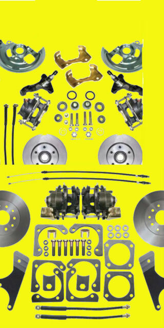 Gm Front & Rear Disc Brake Kit 10 12 Bolt A F X Body Conversion Brakes SH & PR