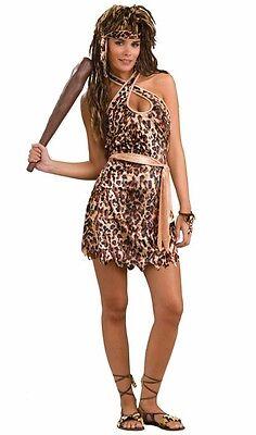 Cave Beauty Cave Woman Tarzan Jane Leopard Dress Up Halloween Sexy Adult Costume